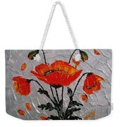 Red Poppies Original Palette Knife Weekender Tote Bag