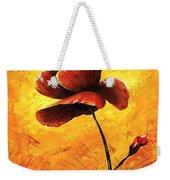 Red Poppy 012 Weekender Tote Bag