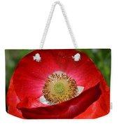 Red Poppy 3 Weekender Tote Bag