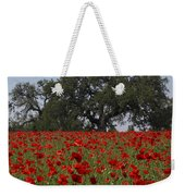 Red Poppy Field Weekender Tote Bag