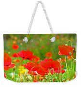 Red Poppy Flowers Meadow Art Prints Weekender Tote Bag