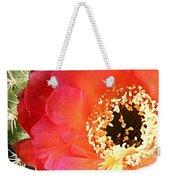 Red Prickly Pear Blossom Weekender Tote Bag