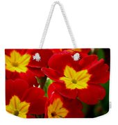 Red Primroses Weekender Tote Bag