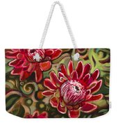 Red Proteas Weekender Tote Bag by Jen Norton