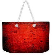Red Rain Weekender Tote Bag by Dave Bowman
