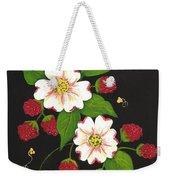 Red Raspberries And Dogwood Flowers Weekender Tote Bag