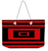 Red Rectangle Weekender Tote Bag