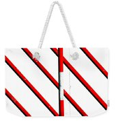 Red Red Line Weekender Tote Bag
