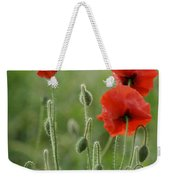 Red Red Poppies 1 Weekender Tote Bag