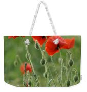 Red Red Poppies 2 Weekender Tote Bag