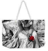 Red Red Rose In Black And White Weekender Tote Bag