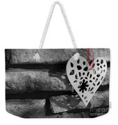 Red Ribbon Heart Weekender Tote Bag
