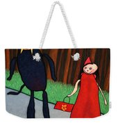 Red Ridinghood Weekender Tote Bag by James W Johnson