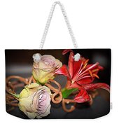 Purple Roses And Red Lily Weekender Tote Bag
