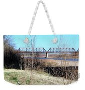 Red River I 35 Train Trussell Weekender Tote Bag