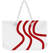 Red River On White Weekender Tote Bag