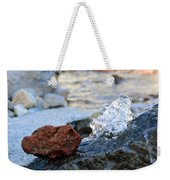 Red Rock And Crystal Water Weekender Tote Bag