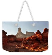 Red Rock And Spire Weekender Tote Bag by Marty Koch