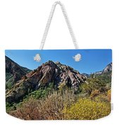 Red Rock Canyon With Foliage Weekender Tote Bag