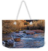 Red Rock Crossing Winter Weekender Tote Bag by Mary Jo Allen