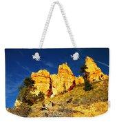 Red Rock Foreground Blue Sky Weekender Tote Bag