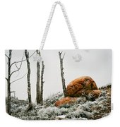 Red Rock Frost - Green Mountain - Wyoming Weekender Tote Bag