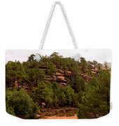 Red Rock Green Forest No3 Weekender Tote Bag