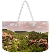 Red Rock Green Forest No2 Weekender Tote Bag