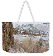 Red Rock Winter Drive Weekender Tote Bag by James BO  Insogna