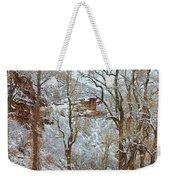 Red Rock Winter Road Portrait Weekender Tote Bag