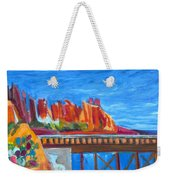 Red Rocks And Railroad Trestle Weekender Tote Bag