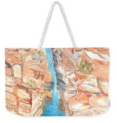 Red Rocks Of Water Weekender Tote Bag