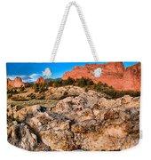Red Rocks Over White Weekender Tote Bag
