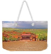Red Rocks Park Amphitheater - Centered View Weekender Tote Bag