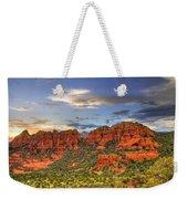 Red Rocks Sunset Weekender Tote Bag