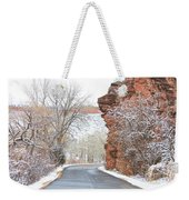 Red Rocks Winter Landscape Drive Weekender Tote Bag by James BO  Insogna