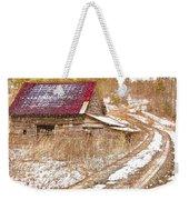 Red Roof In The Snow  Weekender Tote Bag
