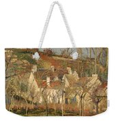Red Roofs In A Village In Winter Weekender Tote Bag