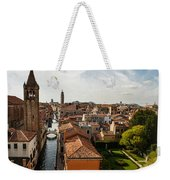 Red Roofs Of Europe - Venetian Canal Palaces Gardens And Courtyards Weekender Tote Bag