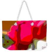 Red Rose Abstract Weekender Tote Bag