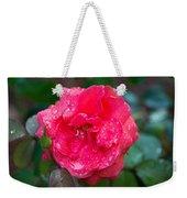 Savannah Ga Red Rose After A Rain Weekender Tote Bag