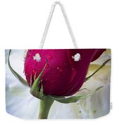 Red Rose And Kale Flower Weekender Tote Bag