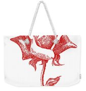 Red Rose Art 1 Weekender Tote Bag
