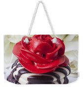 Red Rose Cupcake Weekender Tote Bag