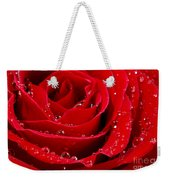 Red Rose Weekender Tote Bag by Elena Elisseeva
