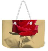 Red Rose Flower Isolated On Sepia Background Weekender Tote Bag