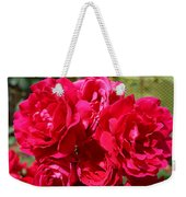 Red Rose Garden Art Prints Roses Weekender Tote Bag