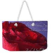 Red Rose Romantic Greeting Card Weekender Tote Bag