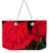 Red Rose Twins  Weekender Tote Bag