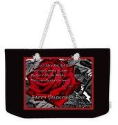 Red Rose Valentine Weekender Tote Bag